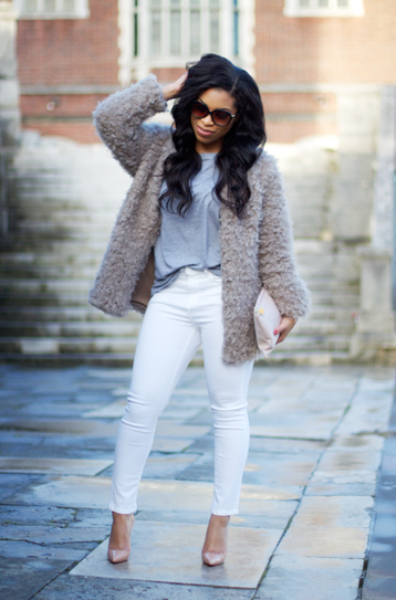 белые обтягивающие штаны фото