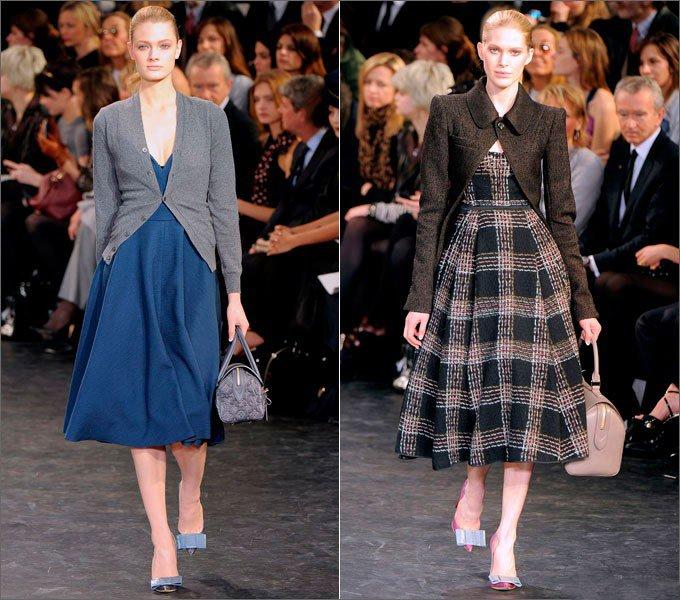 Девушки в платьях от Louis Vuitton в стиле Нью Лук