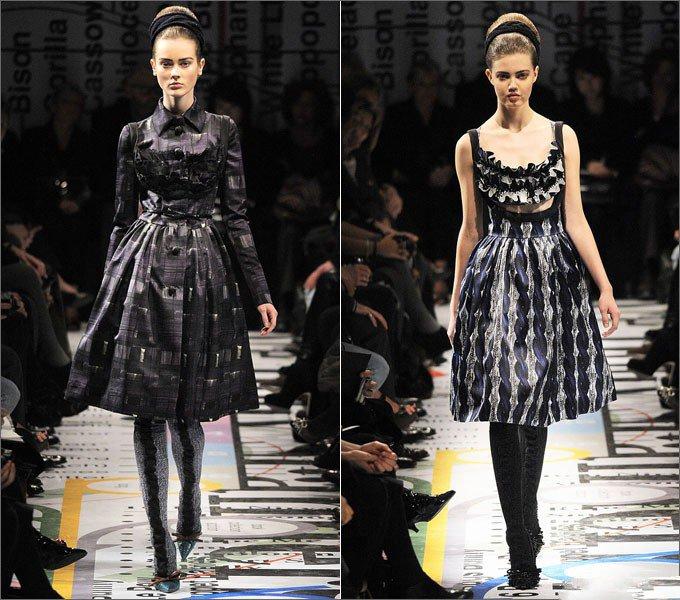 Девушки в платьях от Prada в стиле Нью Лук