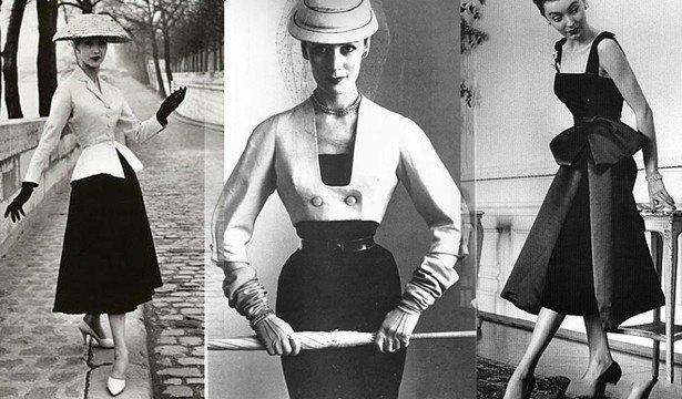 Стиль New Look в 50-х годах 20 века