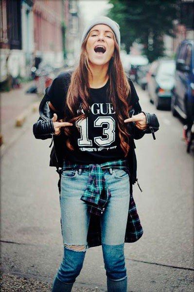 фото студенток в джинсах