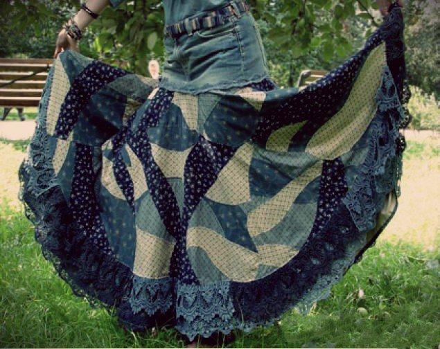 Этническая юбка в стиле бохо