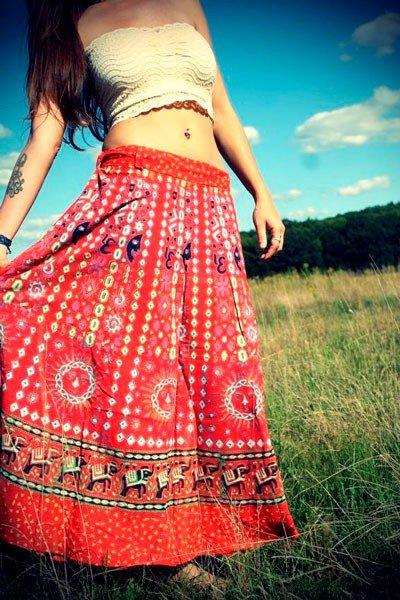 Расшитая юбка в стиле бохо
