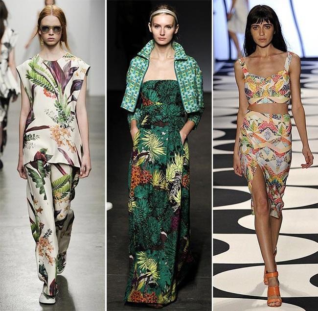 Экзотические узоры - тенденции принтов весна-лето 2015
