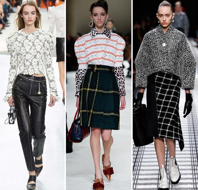 Девушки в кофтах с пышными рукавами - тенденции моды сезона осень/зима 2015-2016