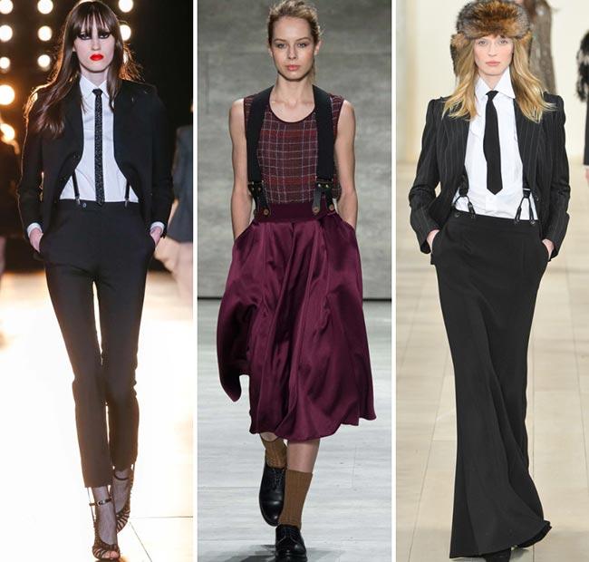 Девушки в луках с подтяжками - тенденции моды сезона осень/зима 2015-2016