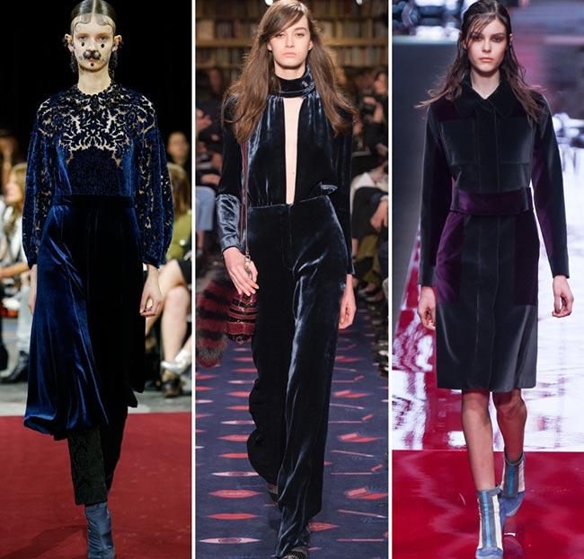 Девушки в нарядах изи вельвета - тенденции моды сезона осень/зима 2015-2016