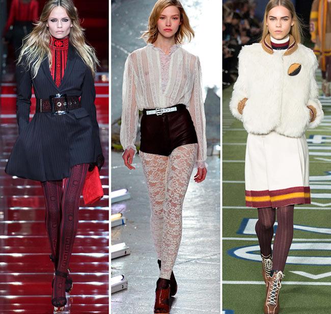 Девушки в необычных колготках - тенденции моды сезона осень/зима 2015-2016