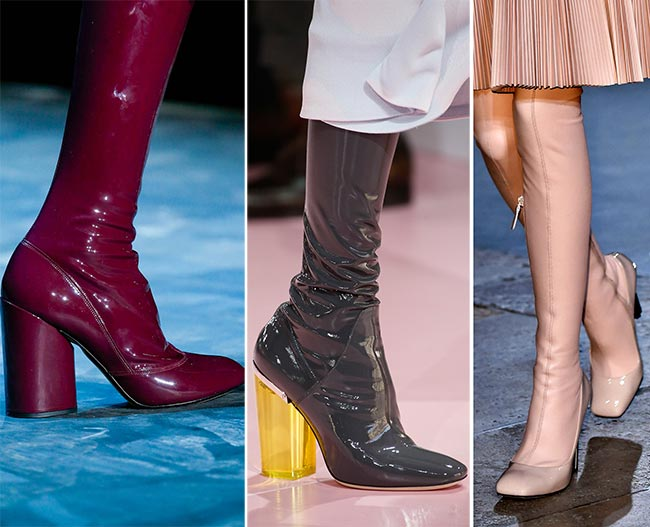 c90fe9192 Обувь из латекса - тенденции обуви осень/зима 2015-2016