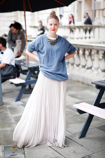 Длинная юбка с блузкой