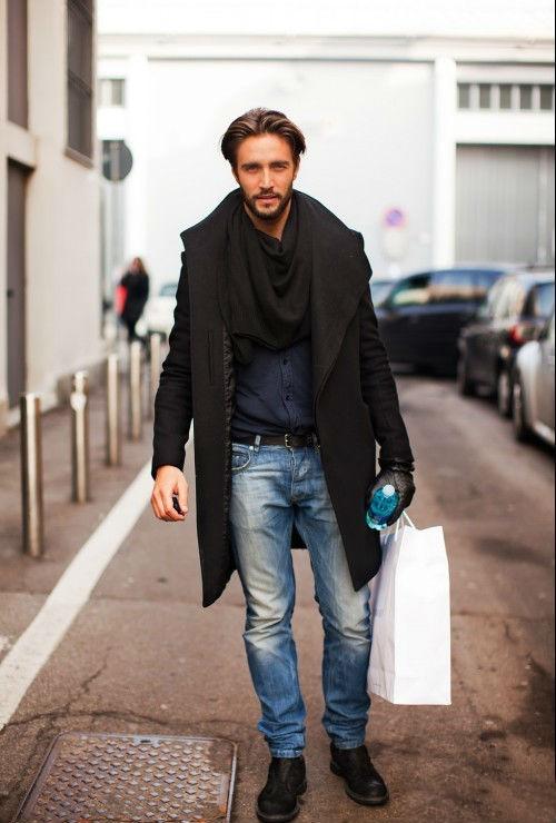 Что носить с мужским черным пиджаком