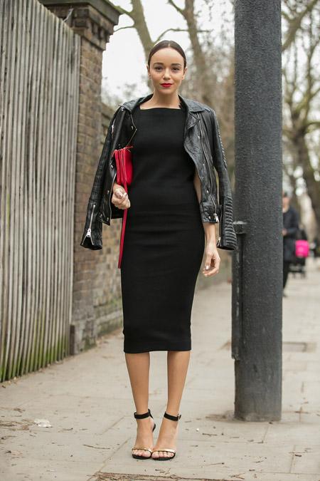 Фото черных платьев до колена