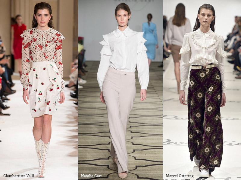 Модные женские блузки 2018: фото и тренды с показов осень-зима
